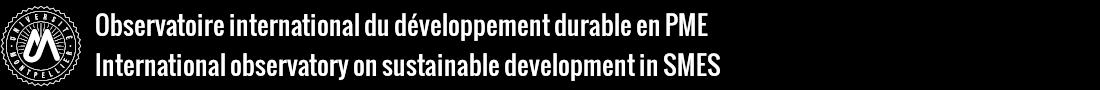 Observatoire international du développement durable en PME Logo